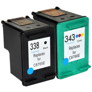 338 & 343 ( C8765EE / C8766EE ) Compatible Text Quality Ink Cartridge Set for HP 5055990127249