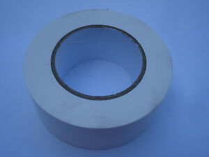Rouleau-50m-Adhesif-blanc-toile-largeur-48mm-dechirable-la-main-simple-face