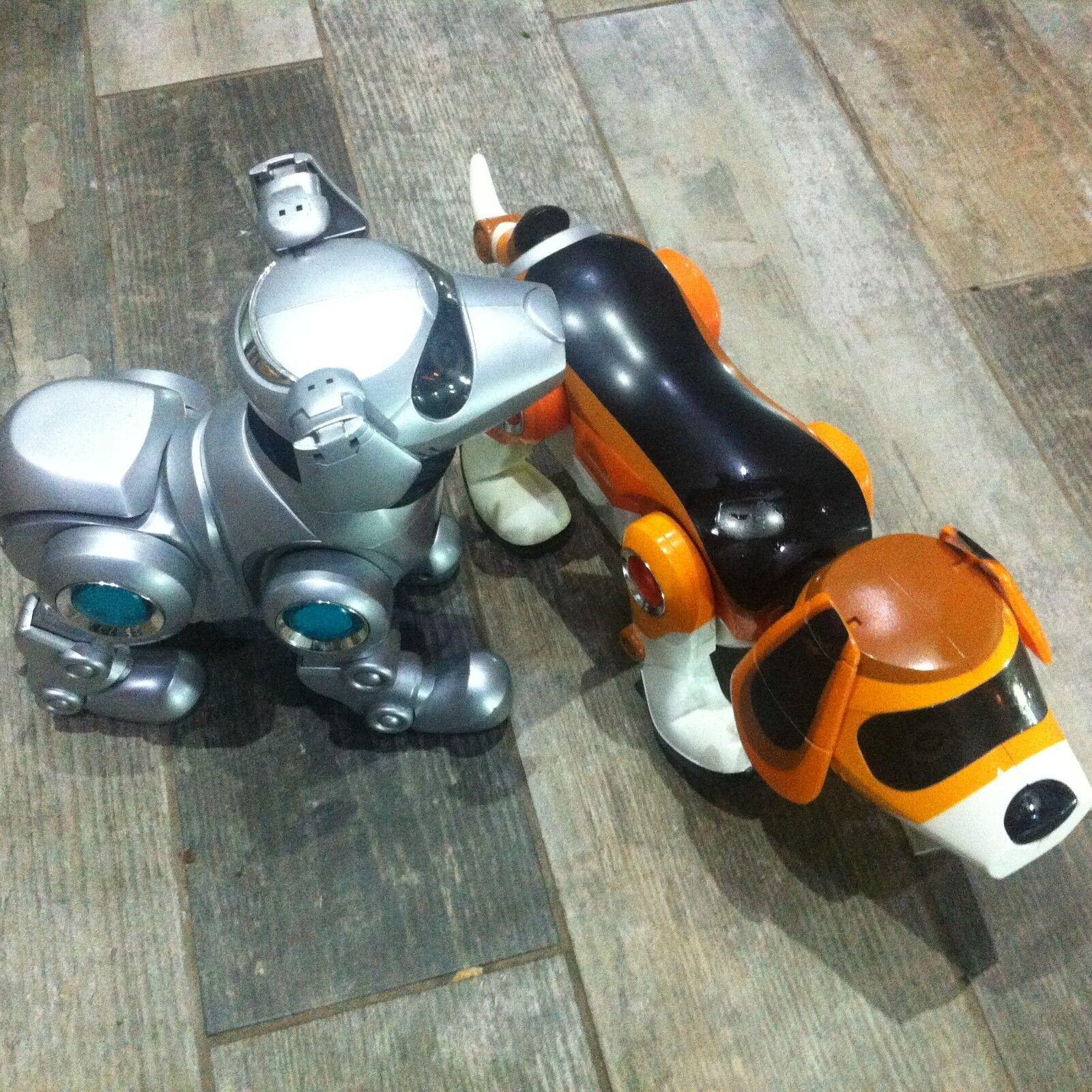2 x Teksta robot dogs