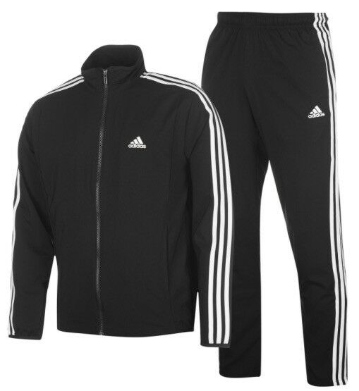 Adidas 3 a Righe Tuta men Tuta Tuta per Jogging black