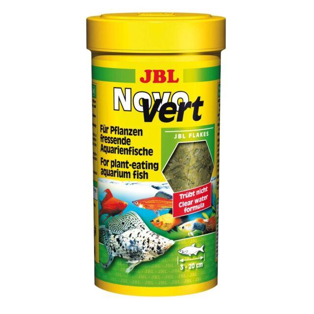 JBL Novovert 250 Ml, Flocken-Hauptfutter per Erbivori Pesci D'Acquario