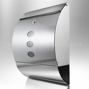 Design Edelstahl Briefkasten Postkasten Post Briefkasten