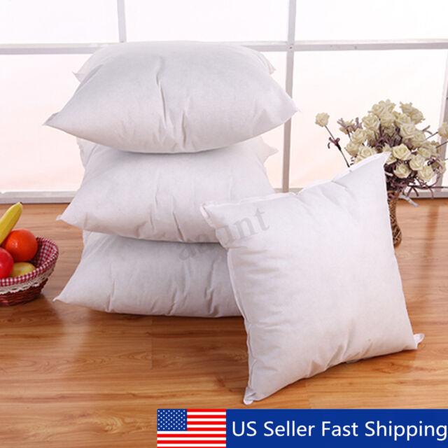 ALL SIZE Euro Cotton Cushion Throw Pillow Sofa Waist Pillowcase Filler Insert