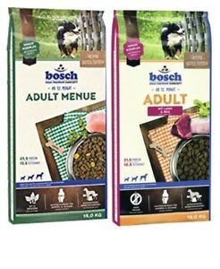 Nourriture pour chiens agneau et riz Bosch Menue adulte, 15 kg