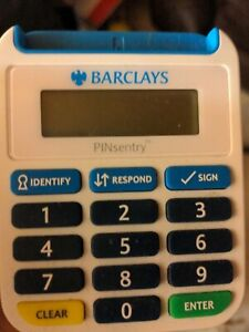 Barclays PINSENTRY Card Reader Machine - secure online banking. Used.