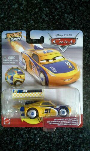 Disney Pixar Cars Cruz Ramirez with Blast Wall Rocket Racing