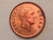 - 1937 H Sarawak One Cent Raja C. V. Brooke  Choice Mint Red Uncirculated Unc