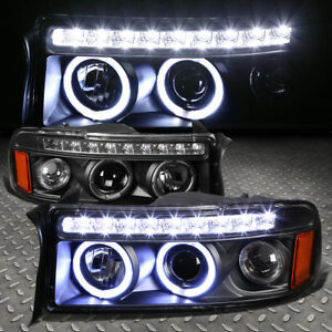 DUAL HALO+LED DRL]FOR 1994-2002 DODGE RAM BLACK AMBER PROJECTOR ...
