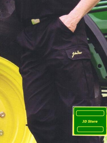*SHOP SOILED* John Deere Dickies Black Uniform Cargo Trousers Various Sizes