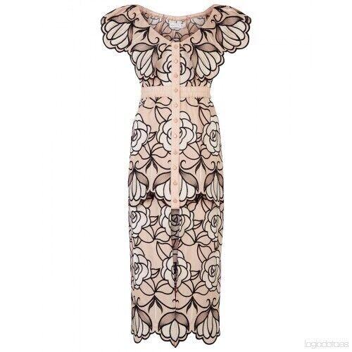 420 NWT Alice Mccall Tutti Frutti Dress Nude Ballet Floral AUS4 US0