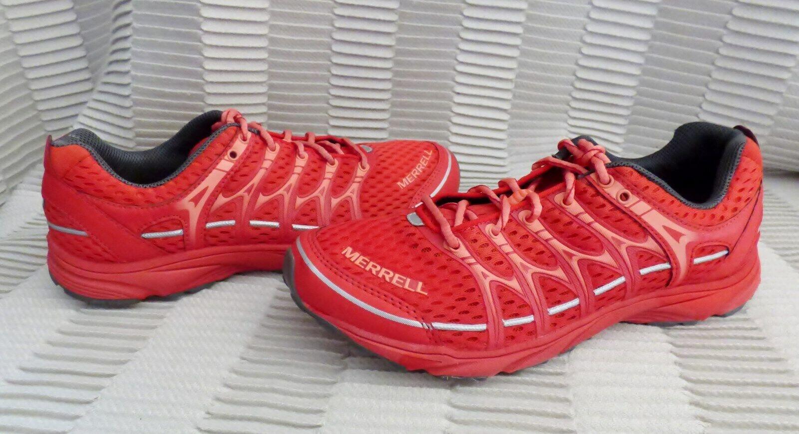 Femme Bon état Merrell Mix Master Move Glide rouge Trail chaussures De Course J559704 Taille 7.5