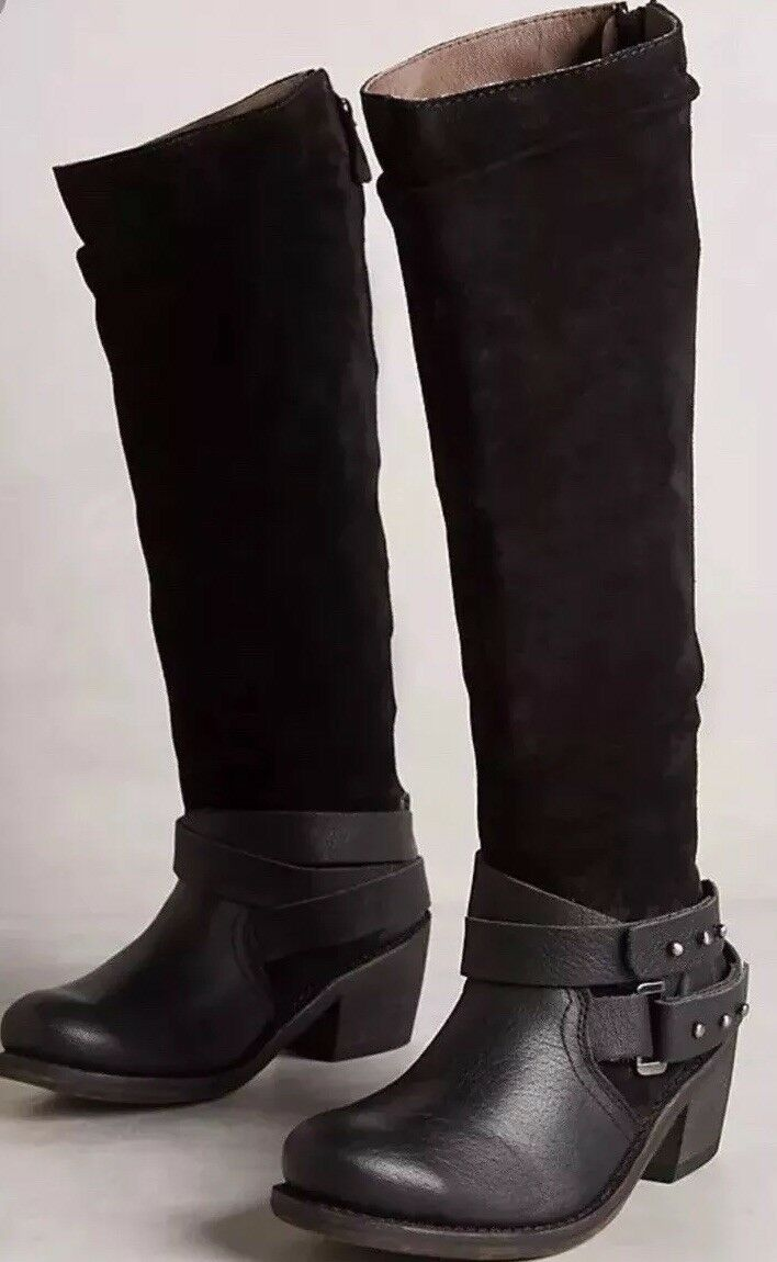 NEW ANTHROPOLOGIE GEE WAWA 8.5 NANCY LEATHER Stiefel SUEDE KNEE HIGH RIDING Stiefel LEATHER 278 3d45a2