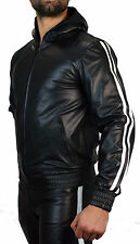 AW-8080 Leder Hoodie Trainingsjacke,leder Jacke Sportsjacke,Kapuzenjacke.Gr.4XL