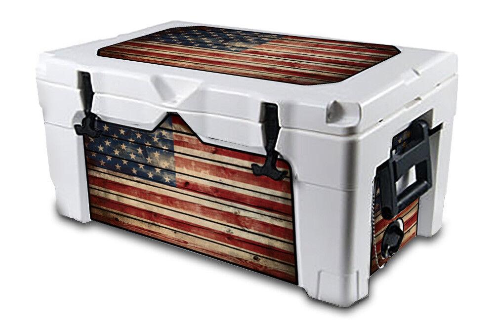 USATuff Decal Wrap L+I Kit fits IGLOO Sportsman 55qt Cooler Old Glory