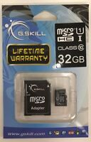 G.skill - Ff-tsdg32ga-c10 - 32gb Microsdhc Class 10 Memory Card With Adapter