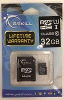G.skill - Ff-tsdg32ga-c10 - 32gb Microsdhc Class 10 Memory Card With Adapter