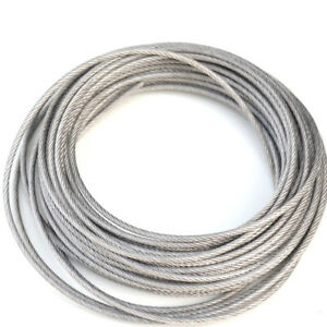 Stainless Steel Wire Rope Cable PVC Plastic Coated 1mm 1.2mm 1.5mm ...