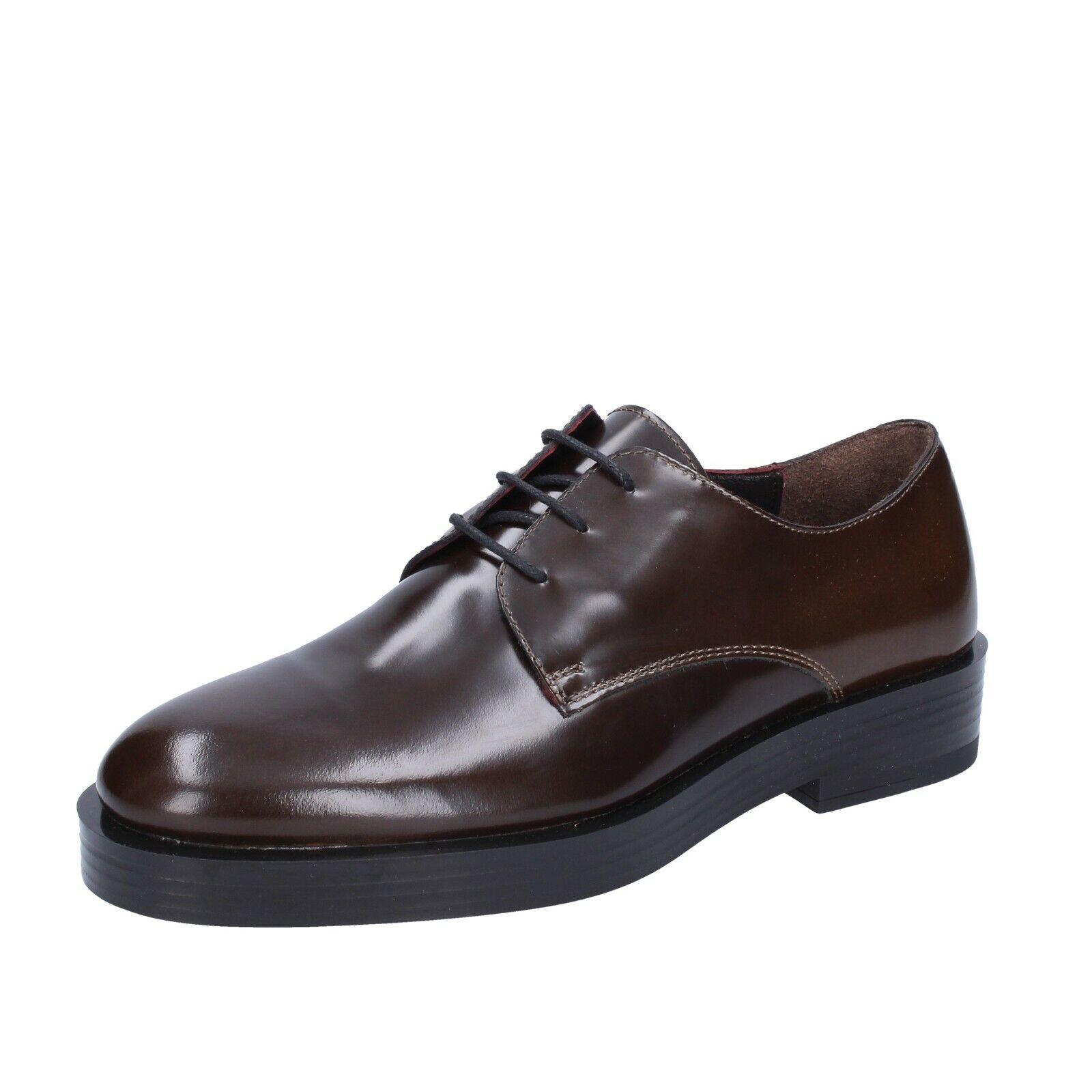 Chaussures femmes TRIVER FLIGHT 36 UE élégante marron gros cuir br72-36