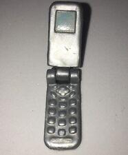 Barbie Silver Flip Phone Cellphone Mobile Phone Telephone Purse Doll Accessory