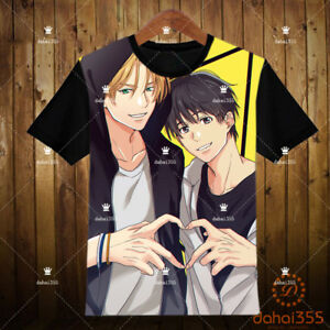 Anime-BANANA-FISH-Black-Otaku-Shirts-Short-Sleeve-Unisex-T-shirt-Tee-Tops-U8