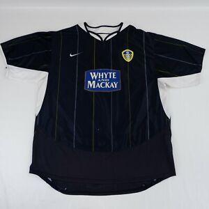 LEEDS UTD 2005/06 Away Shirt Kit Nike XL Blue White & Mackay Men's A55-19