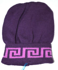 NWT Authentic Young Versace Girl's Purple Winter Hat (Size 3T)