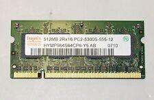 LAPTOP MEMORY 512MB HYNIX 2RX16 PC-2 5300S HYMP564S64CP6-Y5 AB