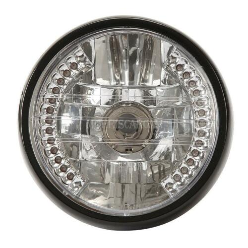 "7/"" Headlight LED Halo Ring For Yamaha V-Star XVS 250 650 950 1100 1300 Custom"
