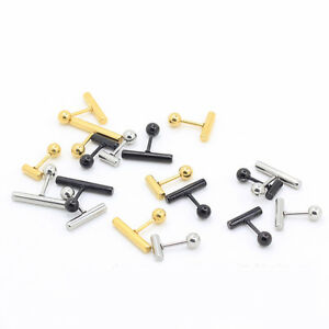 2pcs-16G-Steel-T-Barbell-Ear-Helix-Cartilage-Studs-1-4-034-Bars-Earring-Piercing