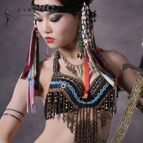 Tribe Special Fanny Beading Belly Dancing Costumes Bra top S M L