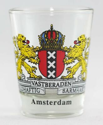 Brussels Belgium Coat Of Arms Shot Glass