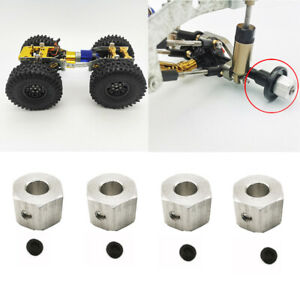 4pcs 12MM Wheel Hex Hub Adapter DIY For 1//16 WPL B14 B24 C14 1//12 MN45 RC Car