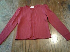Vintage St John Santana Knit Red Cardigan Size 2 (cb14)