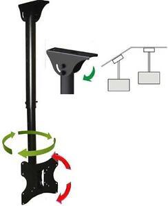 CEILING TV MOUNT BRACKET LCD LED PLASMA 27 30 32 36 37 40 55 TILT SWIVEL ROTATE