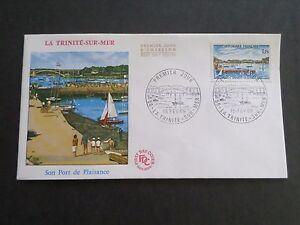 FRANCE-1969-FDC-1-JOUR-TRINITE-039-SUR-MER-PORT-VF