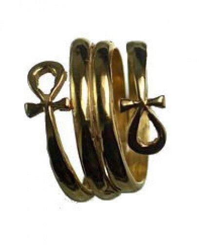 24kt Gold Plated Egyptian Eternal Life Ankh Ring Egypt