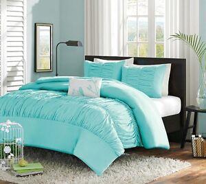 Image Is Loading Turquoise Blue Aqua S Twin Single Comforter Set