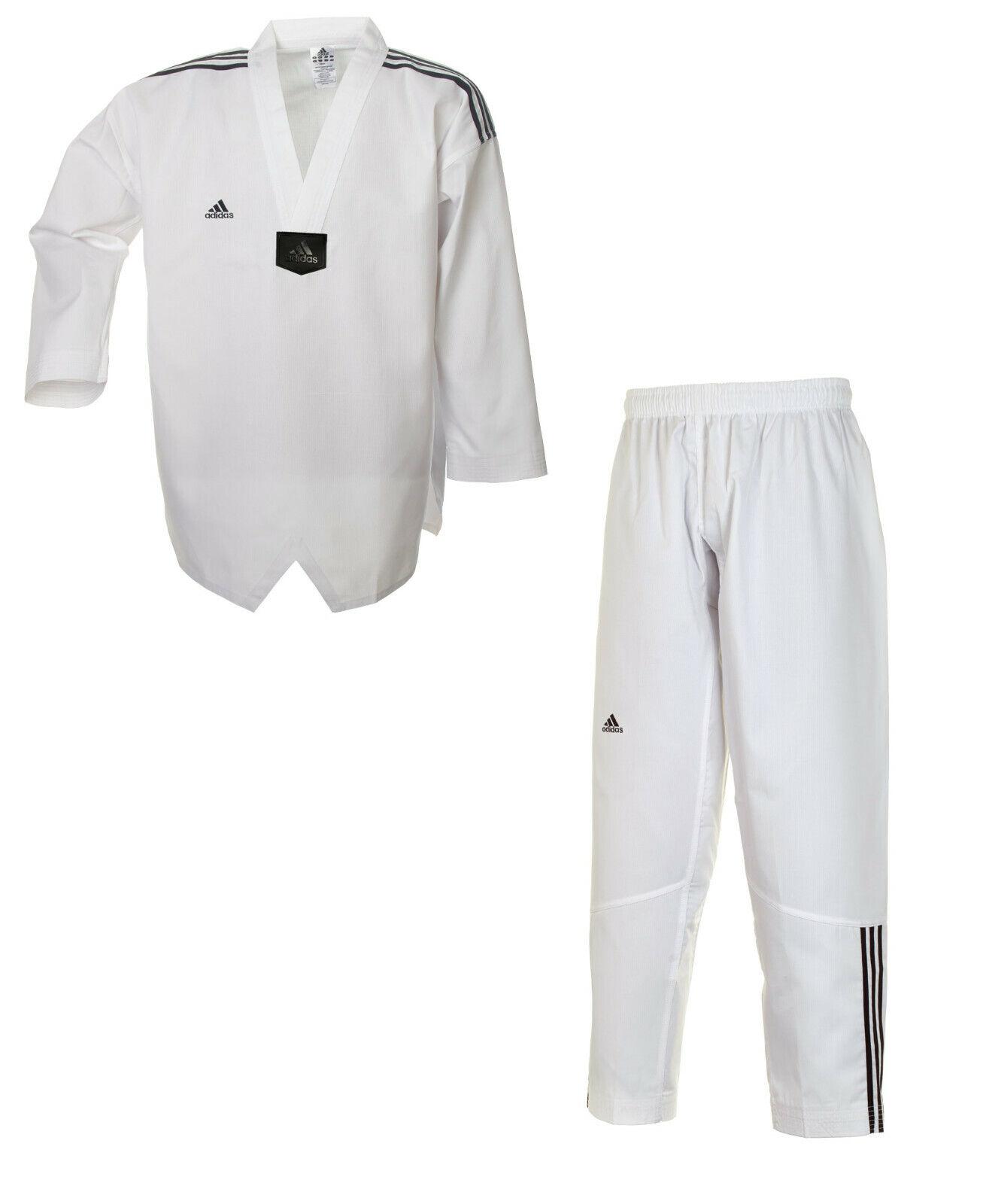 ADIDAS Taekwondo Anzug  TKD ADICLUB weißes Revers / Dobok / ADITCB02