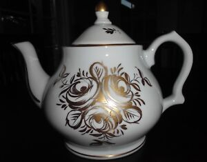 Vintage-Gold-Design-Hand-Painted-Tea-Pot-Made-in-France