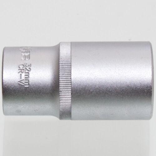 32 mm Steckschlüssel Einsatz sechskant Nuss Länge 78 mm Aufnahme 1//2 Zoll