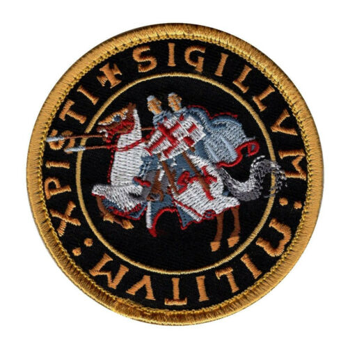 TE1 BY MILTACUSA Knights Templar Crusaders Morale Hook Fastener Patch
