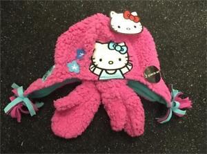 1e4850015 Girls Hello Kitty Girls Winter Hat and Mitten Gloves set - Pink ...