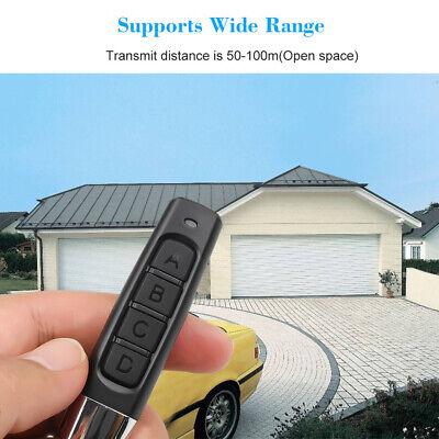 315//433MHz Cloning RC Remote Control Key Fob Electric For Car Garage Gate Door