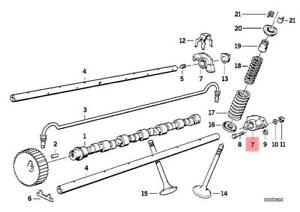 Details about Genuine BMW 320i 528E 325i E34 E28 E12 E30 E21 M20 Engine  Rocker Arms Set of 12