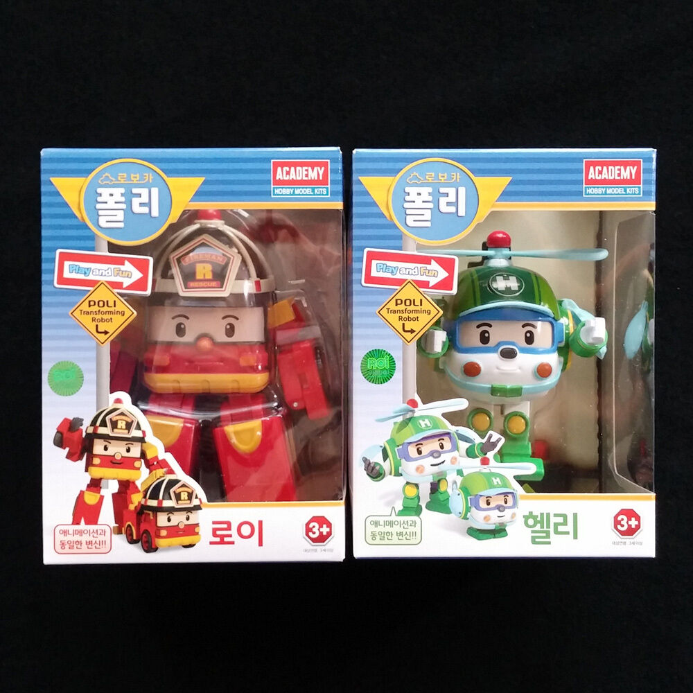 RoboCar Poli Transformers Roy Helly Transforming Robot Toys figures set Academy