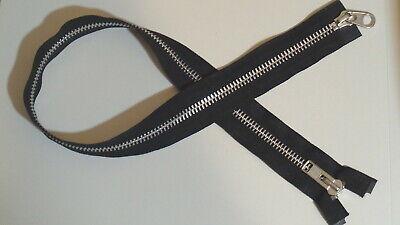 24 inch Black /& Aluminum #10 Heavy Duty YKK Separating Zipper New!