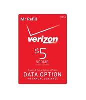 Verizon Data Add-on $5 Refill For Prepaid Device, Fast & Right