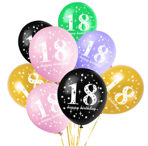 Image Is Loading 10pcs 18 Years Old Latex Balloons Happy Birthday