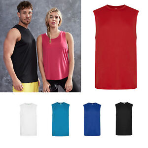 AWDis-Just-Cool-Smooth-Sports-Vest-Men-039-s-Polyester-Gym-sports-training-tank