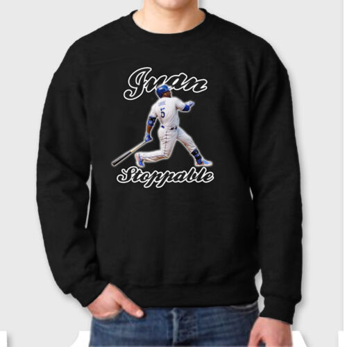 JuanStoppable LA Dodgers #5 T-shirt jersey Juan Uribe Crew Neck Sweatshirt